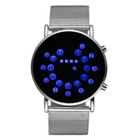 backlit watches - New Sports Watches LED Backlit Display Date Steel Strap Digital Military Watches