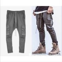 big capri pants - fear of god chinos black grey skinny joggers pants hiphop clothing designer side zipper men s capri cargo big pocket overalls