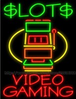 advertisement video - Slots Video Gaming Neon Sign Custom Real Glass Tube Casino Game Advertisement LED Display Sign quot X30 quot