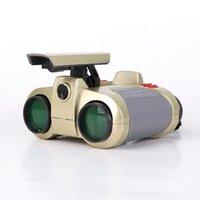 al por mayor spy telescope-Nocturna por infrarrojos profesional prismáticos de la visión 4x30 Visor ajustable Spy Seguridad Alcance de alta definición telescopio binocular de Cine Verde