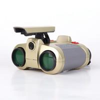al por mayor visor de la noche-Professional infrarrojos visión nocturna binoculares 4x30 ajustable visor espía de seguridad de alcance de alta definición de película verde binocular telescopio