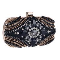 Wholesale Hot New Fashion Diamond Rhinestone Box Clutch Crystal Women Evening Bags Chain Shoulder Bag For Ladies Fashion Design Party Purse Handbag