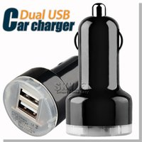 android tablet au - Colorful Car Charger Dual USB Port Cigarette Auto Power Adapter For Samsung Galaxy S5 NOTE LG Android Tablet DHL