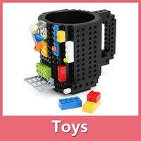 Bebida de la manera Taza creativa en la taza del ladrillo Taza de los ladrillos de DIY Pixelblocks Copas del bloque compatible del KREO K'NEX de Mega 160908
