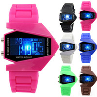 aircraft for sale - Aircraft Digital LED Watches Men Sports Watch Military Watch Back Light Watch For Men Women Hot Sale