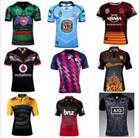 Wholesale 20162017 New Zealand Rugby Jerseys Best Quality welsh Rugby shirt French crusaders bronco Jerseys S XXL size