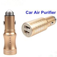 adapter air purifiers - Unique New A Safety Hammer Dual USB Car Charger Two USB Ports Car Adapter For Smart Phone With Air Purifier Function