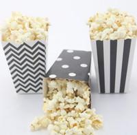 Wholesale 120pcs packs MIX Event Party Supplies black Popcorn Box eco craft paper Candy Box