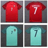 Wholesale 2016 Portugal Soccer Jerseys Thai Quality Euro Cup Coentrao J Moutinho Ronaldo Nanl football shirts