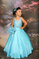 belt strass - Lace up back Sequins Strass Belt ruffle Organza flower girls dress party formal occasion ball gown girl pageant Perfect Angels