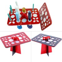 air dry rack - Round Holes Air Dry Organizing Cosmetics Makeup Brushes Tower Tree Rack Holder Make Up Tools Kit WY2