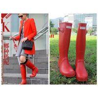 Wholesale 2016 Fashion Shoes hunter boots Waterproof boots hunter wellies over knee boots rain boots hunter Muti color rain boots women Hot Sale