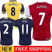 Wholesale Top Quality Arsenal jerseys Away home RD Jersey WILSHERE OZIL WALCOTT RAMSEY ALEXIS RAMSEY DEBUCHY WILSHERE GIROUD jerseys shirt