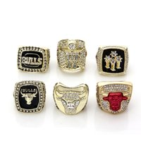 basketball ring size - For Whole Championship Basketball Bulls Replica Championship Rings Size Gold Plated Man Ring