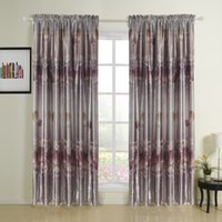 Wholesale Oil Painting Style Print Rod Pocket Top Blackout Curtains Drapes With Multi Size Customs