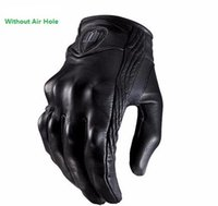 motocross gear - ICON Glove Real Leather Full Finger Black ICON Goves Men Motorcycle Gloves Motorcycle Protective Gears Motocross Glove