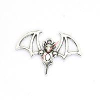 bat bracelet - 20pcs Antique Silver Plated Flying Bat Charms Pendants for Bracelet Jewelry Making DIY Necklace Craft x23mm