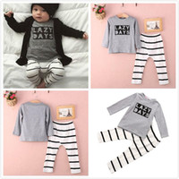 american girl boy - 2pcs Newborn Toddler Baby Girl Boy Romper Jumpsuit Outfits letter t shirts casual stripe pants Playsuit Clothing Set
