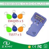 Wholesale Portable Handheld ID Cards KHz RFID Copier Reader Writer Duplicator x T5577 Keyfobs And x EM4305 keyfobs