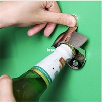 glass soda bottle - New Arrive Stainless Steel Wall Mount Bar Beer Soda Glass Cap Bottle Opener Kitchen Tool