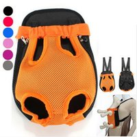 Wholesale Delicate Breathable Mesh Fabric Dog Carrier Pet Chest Backpack With zippers and breathable mesh on both sides