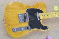 american custom guitars - Custom Shop American Deluxe Ash Telecaster Electric Guitar Butterscotch Blonde Black Pickguard