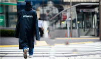Wholesale Vetements hot sale new SS OVERSIZED RAIN COAT jacket waterproof raincoat