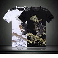 Wholesale lifelike Exquisite fish pattern men and women short sleeved clothes breathable outdoor fishing T shirt cotton hunting shirt