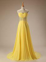 achat en gros de robes de demoiselle d'honneur discount jaune-Robe de soirée courte en satin de mariée Robe de mariée en satin de mariée