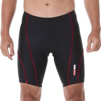 Wholesale Men s D Silicon Padded Cycling Shorts Bicycle Bike Tights Riding Short Pants Sportwear Cycle Wear Fitness S XL