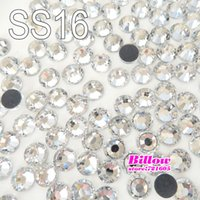 Wholesale Good quality Crystal Clear DMC Flatback Hot Fix Rhinestone SS16 MM Glass Strass Hotfix Rhinestones B0001