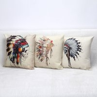 Wholesale 2016 Halloween Skull Throw Pillow Case Cotton Linen Chromatic Decorative Pillowcover Halloween Party Supply Back Cushion Cover