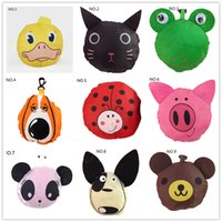 Wholesale Hot sale styles New Cute Useful Animal Bee Panda Pig Dog Rabbit Foldable Eco Reusable bag Shopping Bags A0136