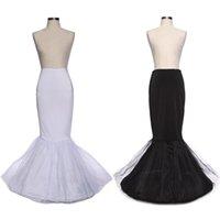 Wholesale 2 Color White Black Cheap Petticoats In Stock Mermaid Wedding Petticoat Underskirt Bridal Crinoline Slip For Wedding Dresses