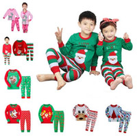 carter - 2016 New Kids Christmas Suits Styles Boys Girls Christmas Santa Pajamas Set Pyjamas Kids Spring Autumn Sleep Clothing Set for T