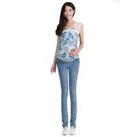 leggings pregnant - Elastic Waist Maternity Jeans Pants Pregnant Women Leggings Solid Maternity Pants Pregnant Clothes For Pregnant Women