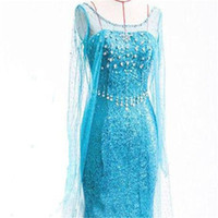 Wholesale 2016 Hot Sell Beautiful Elsa Costume The Latest Style Princess Cosplay Fantastic Halloween Costumes For Woman