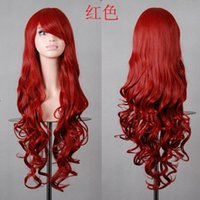 Wholesale Wigs Fashion new women cosplay wigs Halloween colorful long hair beautiful Performance decoration wigs