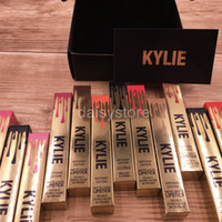 Cheap in stock Kylie Limited Birthday Edition 12 colors Matte liquid Lipstick POPPIN LORD LEO with card and black box