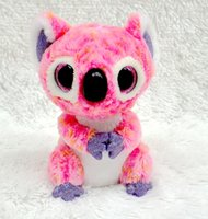 Wholesale Ty Beanie Boos Original Big Eyes Plush Kawaii Doll Koala Stuffed Animals TY Baby Kid Toys Gift ML245