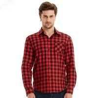 Wholesale Men s Vintage Plaid Check Long Sleeve Shirt Slim Fit Shirts High Quality Camisa Masculina M XXL Colors