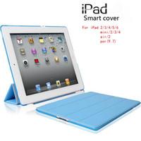 apple smart case ipadmini - Ultrathin Smart Cover case for ipad iPadpro9 iPadair iPadmini PU Leather Case PC Back Case