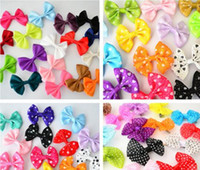 Wholesale Set Star Heart Printing Candy Color Baby Girl Bow Hairpin Hair Clips Kids Gifts Hair Accessories L37