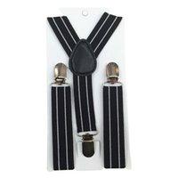 Wholesale New Boys Girls Stripes Y Back Suspenders Child Elastic Adjustable Clip On Braces Y