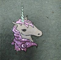 Wholesale 2016 Fashion Boutique Sequins Unicorn Horse Large Cloth Paste Patch Unicorn Horse Sequins DIY Sequins For Clothes Tshirt Dress