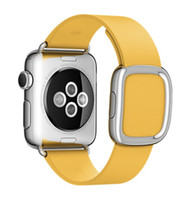 apple watchband - 2016 Latest Color Magnetic Modern Buckle For Apple Watch Band Watchband Original Magnet Closure Marigold Yellow Blue Jay MM Bracelet Strap