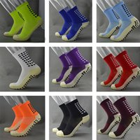 Wholesale TOP Quality Men Anti Slip Football Socks TockSox Mid Calf Football Socks Soccer Short Stockings TruSox Futbol Meias Calcetines