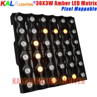 Wholesale DJ Panel Stage Lighting High Brightness LED Matrix Pixel Mappable X3W CREE Amber Color Beam Wash Light