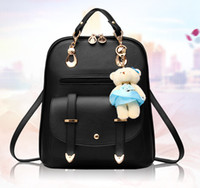Wholesale 2016 New Fashion PU Backpack Leather Shoulder Bag Schoolbag Cute Printing Backpacks for Girls