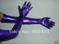 Wholesale More Colors New Metallic Lycra zentai spandex sexy long gloves S XXL